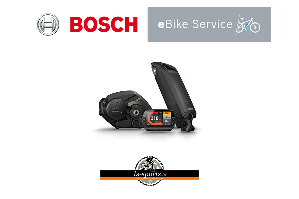 Bosch, E-Bike Parts and service in our Bicycleshop